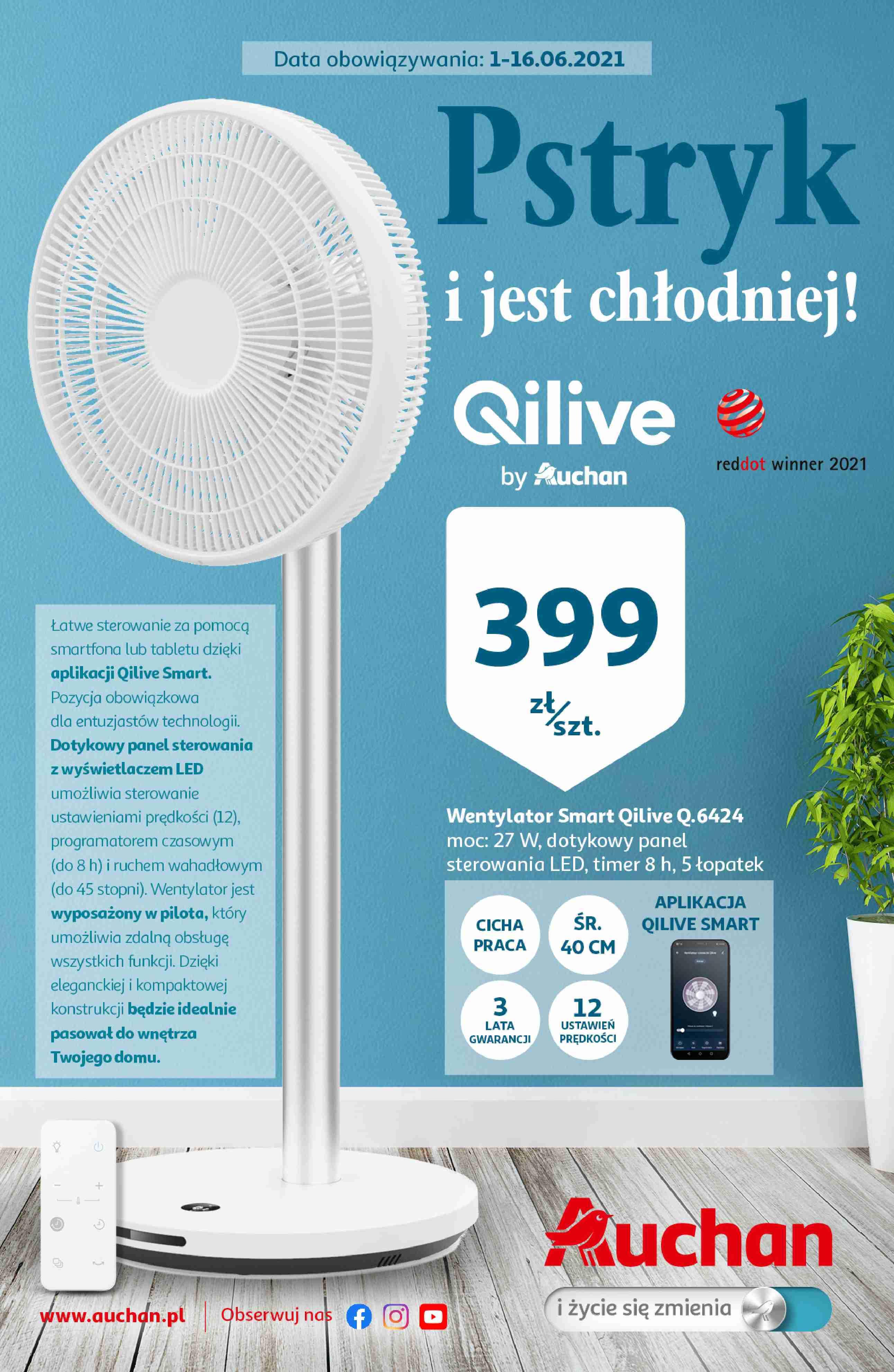 Auchan Gazetka promocyjna - Pstryk i jest chłodniej - 01.06 - 16.06