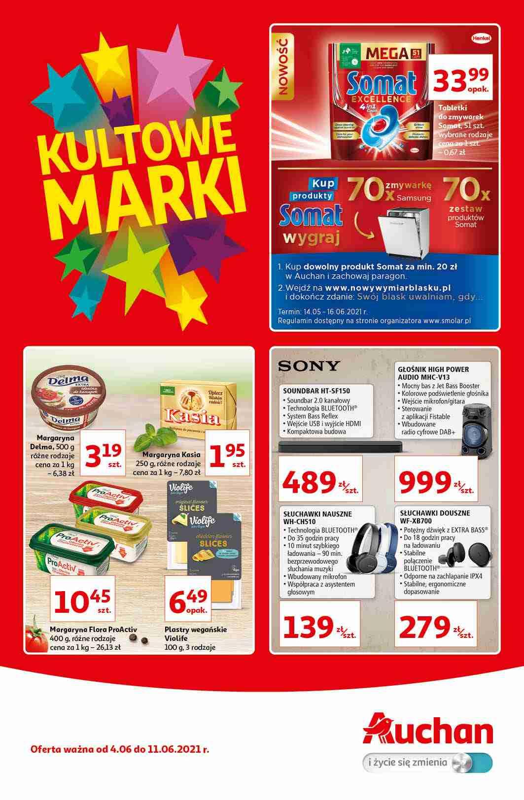 Auchan Gazetka promocyjna - Kultowe Marki Hipermarkety - 04.06 - 11.06