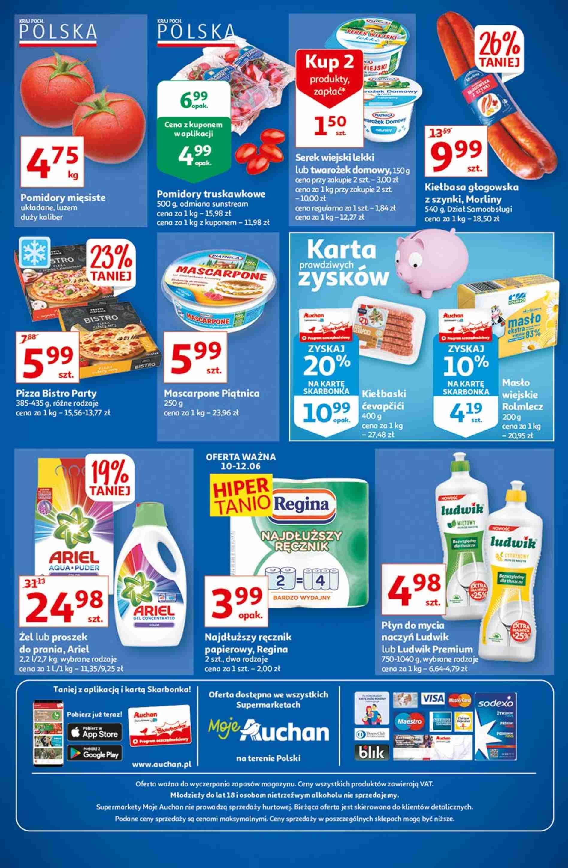 Auchan Gazetka promocyjna - Ceny w dół Moje Auchan - 10.06 - 16.06