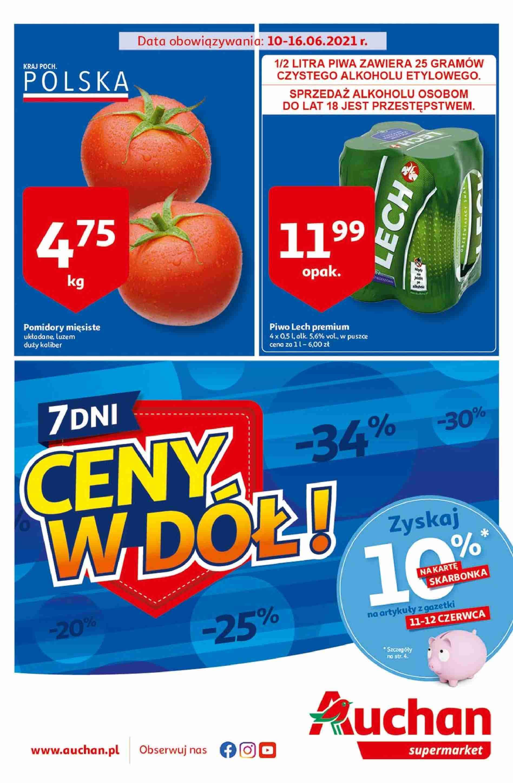 Auchan Gazetka promocyjna - Ceny w dół Supermarkety - 10.06 - 16.06