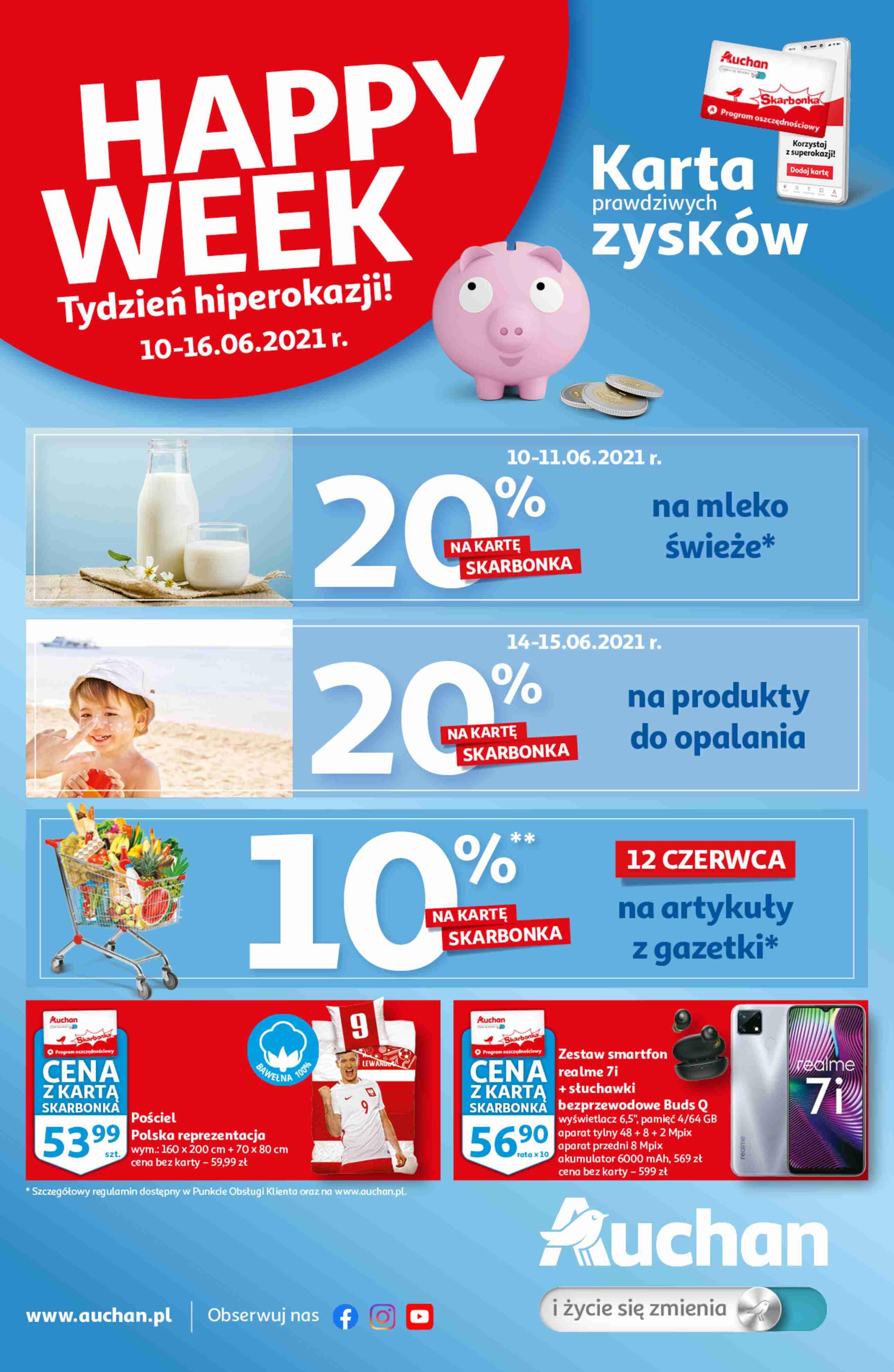 Auchan Gazetka promocyjna - Skarbonka#23 - 10.06 - 16.06